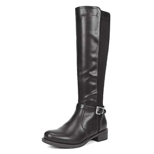 DREAM PAIRS Women's Sullivan Black Knee High Boots