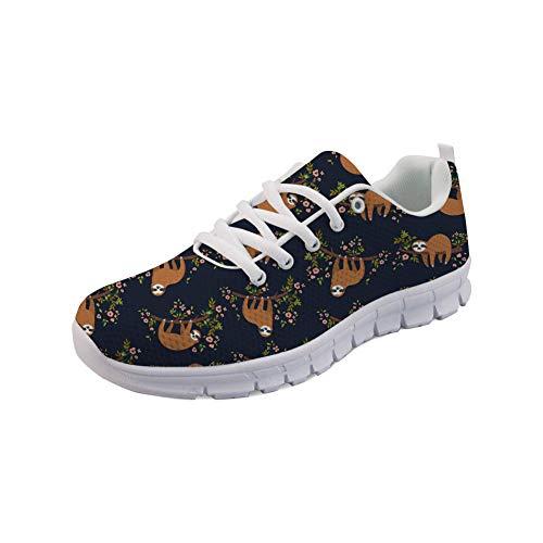 Showudesigns Sloth Design Road Running Shoes Womens Trekking Sneaker