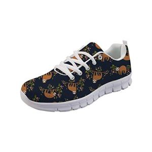 Showudesigns Sloth Design Road Running Shoes Womens Trekking Sneaker