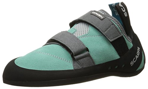 SCARPA Women's Origin WMN Climbing Shoe, Green Blue/Smoke