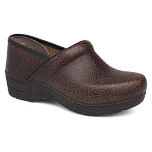 Dansko Women's XP 2.0 Brown Floral Tooled Clogs