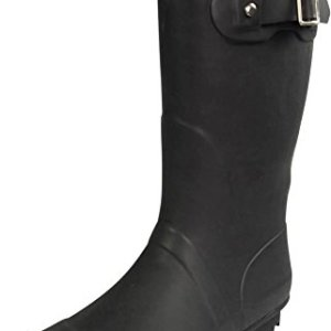 NORTY - Womens Hurricane Wellie Solid Matte Mid-Calf Rain Boot