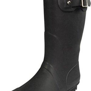 NORTY - Womens Hurricane Wellie Solid Matte Mid-Calf Rain Boot