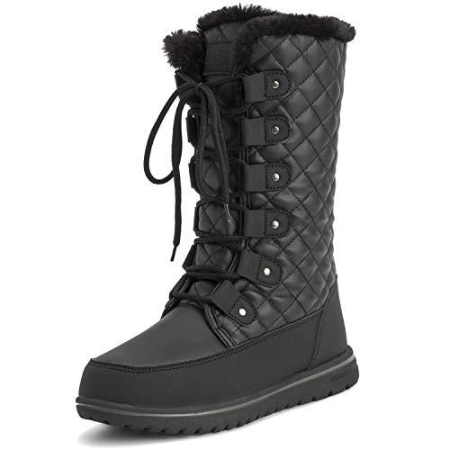 Polar Womens Tall Snow Warm Calf Waterproof Durable Outdoor Winter Rain Boots
