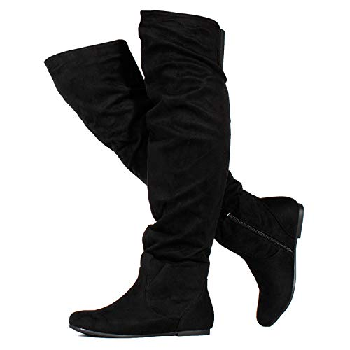 RF ROOM OF FASHION Stretchy Over The Knee Slouchy Boots