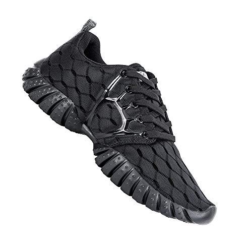ALEADER Women's Lightweight Mesh Sport Running Shoes Carbon Black 7.5 D(M) US