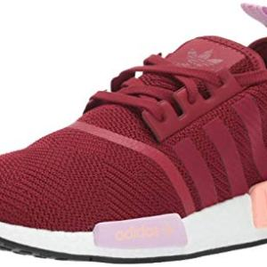 adidas Originals Women's NMD_R1, Burgundy/Clear Orange, 8 M US