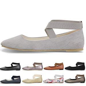 CINAK Women's Ballet Flats- Comfortable Classic Shoes Black Ballerina