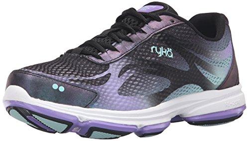 Ryka Women's Devotion Plus 2 Walking Shoe, Black/Purple