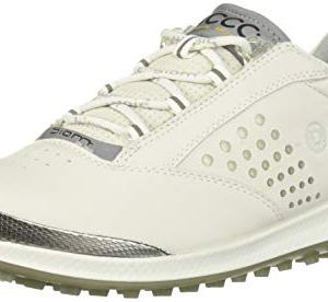 ECCO Women's Biom Hybrid 2 Golf Shoe, White Yak Leather, 9 M US