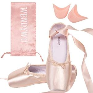 Wendy Wu Girls Womens Dance Shoe Pink Ballet Pointe Shoes (7)
