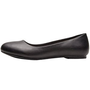 Luoika Women's Wide Width Flat Shoes - Comfortable Slip On