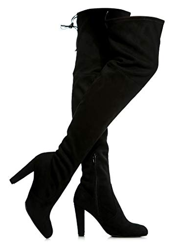 Women's Over The Knee Boots - Sexy Blake Drawstring Stretchy Pull on