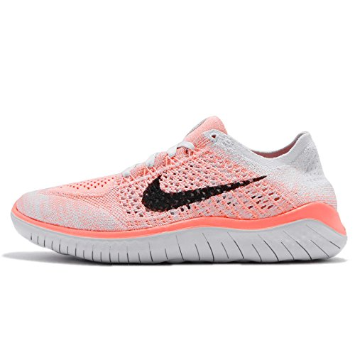 Nike Womens Free Rn Flyknit 2018 Low Top Lace Up Running, Orange, Size 8.5