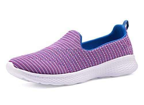 Women Slip-On Shoes Walking Sneakers Lightweight Memory Foam Loafers