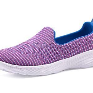 Women Slip-On Shoes Walking Sneakers Lightweight Memory Foam Loafers