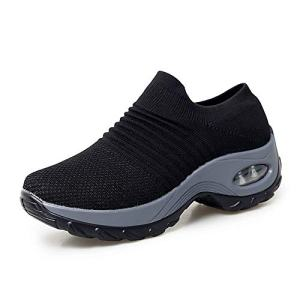 XMWEALTHY Women's Walking Shoes Breathable Mesh Slip On Athletic Shoes