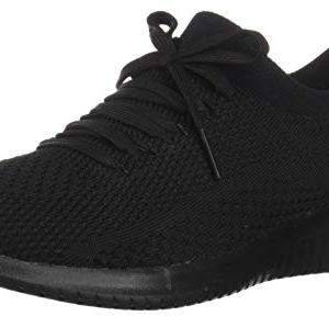 Skechers Women's Ultra Flex Statement Sneaker, Black/Black