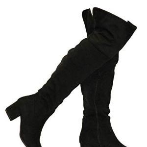 MVE ShoesWomen's Over The Knee Stretch Boot - Trendy Low Block Heel Shoe