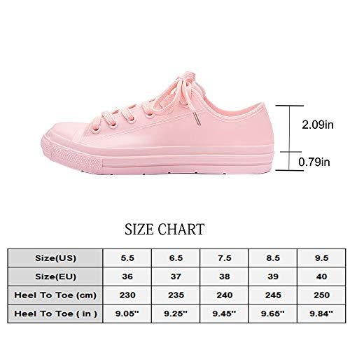 fazoc Women's Rain Shoes Waterproof Anti Slip Garden Shoes fazoc Women's Rain Shoes Waterproof Anti Slip Garden Shoes(7.5 M US,Pink Short).