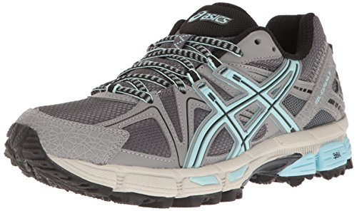 ASICS Women's Gel-Kahana 8 Trail Runner, Titanium/Clearwater/Silver, 10.5 M US