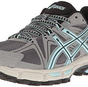 ASICS Women's Gel-Kahana 8 Trail Runner, Titanium/Clearwater/Silver, 10.5 M US