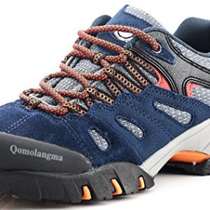 QOMOLANGMA Women's Suede Hiking Shoes Walking Sneakers Outdoor