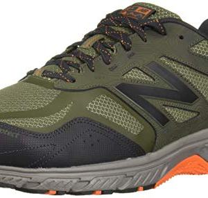 New Balance Men's 510v4 Cushioning Trail Running Shoe, Dark Covert Green/Phantom/Bengal Tiger, 11.5 D US