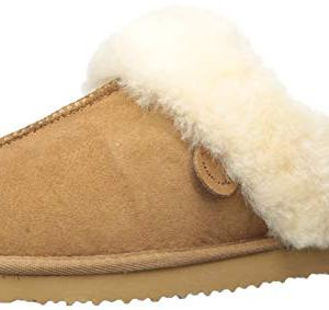Dearfoams Women's Fireside Sydney Water Resistant Shearling Scuff Slipper