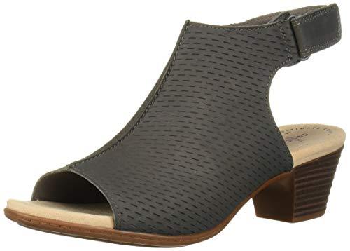 CLARKS Women's Valarie James Heeled Sandal, Grey Nubuck, 80 W US