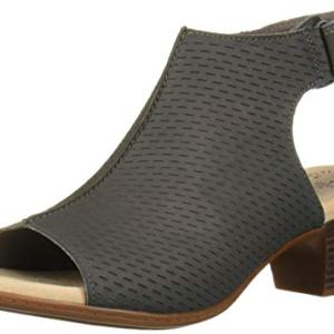 CLARKS Women's Valarie James Heeled Sandal, Grey Nubuck, 80 W US