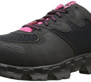 Timberland PRO Women's Powertrain Alloy Toe ESD W Industrial Shoe,Black/Pink Microfiber And Textile,7 M US