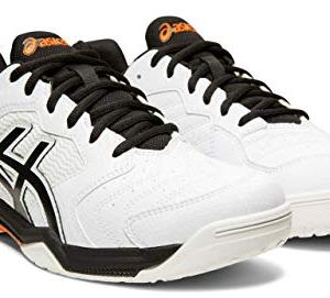 ASICS Gel-Dedicate 6 Men's Tennis Shoes, White/Black