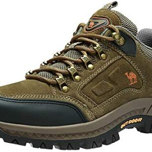 CAMEL CROWN Men's Hiking Shoes Low-Cut Breathable Leather