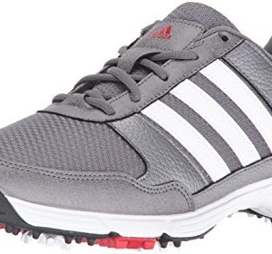 adidas Men's Tech Response Golf Shoe, Iron Metallic/White