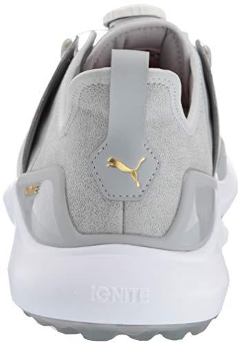 Puma Golf Men's Ignite Nxt Disc Golf Shoe, high Rise Team Gold-Puma White Puma Golf Men's Ignite Nxt Disc Golf Shoe, high Rise Team Gold-Puma White, 10 M US.
