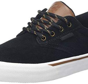 Etnies Men's Jameson Vulc Skate Shoe, Black/Gold