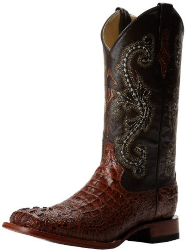 Ferrini Men's Print Crocodile S-Toe Western Boot,Sport Rust