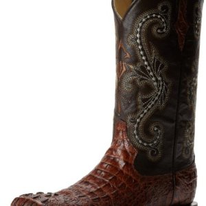 Ferrini Men's Print Crocodile S-Toe Western Boot,Sport Rust