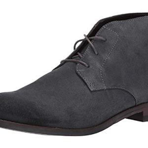CLARKS Flow Top Mens Derby Boot Dark Grey Suede