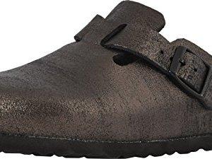 Birkenstock Womens Boston Soft Footbed Antique Black Clog