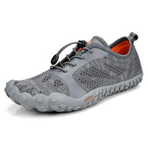Troadlop Shoes for Men Minimalist Barefoot Shoes for Jogging Workout Trail Running Trekking Hiking Fitness Grey10.5
