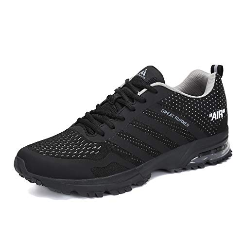 Mens Womens Air Cushion Shoes Breathable Mesh Running Walking Jogging Tennis Sports Sneakers