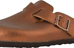 Birkenstock Womens Boston NL Washed Metallic Antique Copper Clog