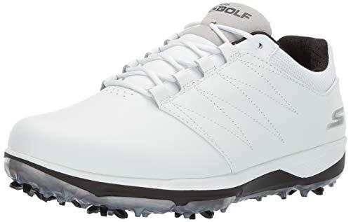 Skechers Men's Pro Waterproof Golf Shoe, White/Black
