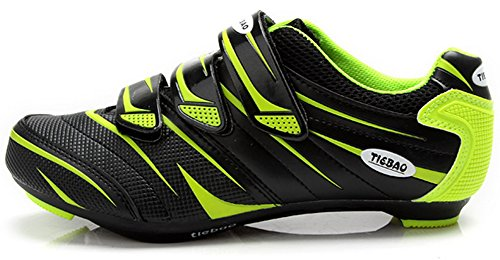 Tiebao Road Cycling Shoes Lock Pedal Bike Shoes Cleated Bicycle Ciclismo Shoes Green 44