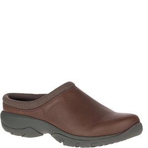Merrell Men's Encore REXTON Leather AC+ Clog, Dark Earth