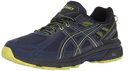 ASICS Mens Gel-Venture 6 Running Shoe, Indigo Blue/Black/Energy Green