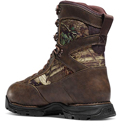 """Danner Men's Pronghorn 8"""" 800G Gore-Tex Hunting Boot Danner Pronghorn WATERPROOF Thinsulate Insulation Boots. Stand proud. And dry. Picture this... you've got spent hours within the moist woods, but your ft are remarkably dry and cozy. So you keep. Two hours later, you've got nailed an 8-level buck. You have it mounted and infrequently recall the hunt. And how heat and cozy your ft felt. Then you look within the nook and see them... your Danner Pronghorn Boots. Standing proud AND dry. Built to final with sturdy, waterproof full-grain CamoHide leather-based and rugged, light-weight, 1,000-denier nylon; 100% waterproof and breathable GORE-TEX lining for all-day dry ft; Thinsulate Insulation for dependable heat; Rugged {hardware} for safe match and lengthy lasting efficiency; Triple-density open cell polyurethane OrthoLite footbed supplies supreme cushioning; Danner Pronghorn outsole for stable traction over rugged terrain; Each roughly 10"""" top, 30 ounces; Imported; Materials: CamoHide leather-based uppers; Special options: 100% waterproof, Thinsulate insulation; Danner Pronghorn Men's Insulated Boots, 800 Grams, Mossy Oak Break-Up Infinity"""
