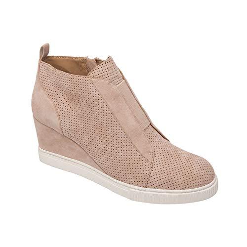 Felicia - Our Original Platform Wedge Sneaker Bootie Blush